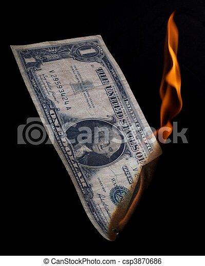 Dollar on fire - csp3870686