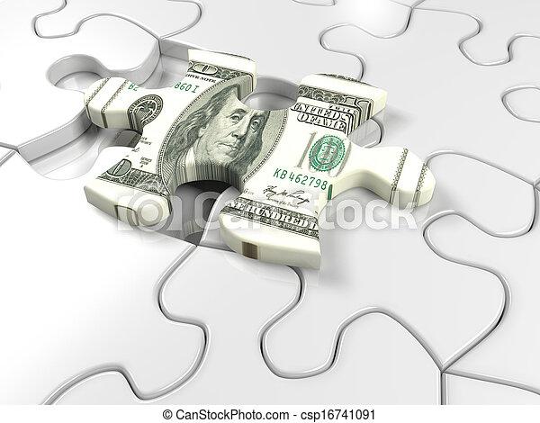 Dollar puzzel - csp16741091