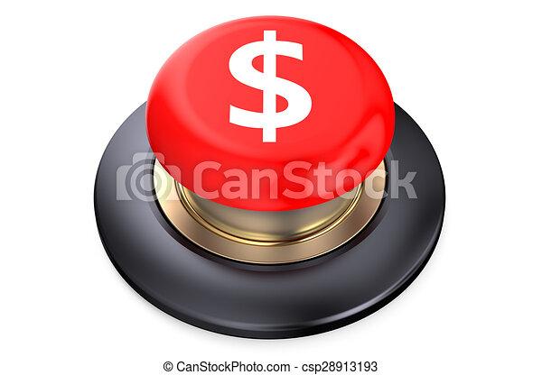 Dollar Red button - csp28913193