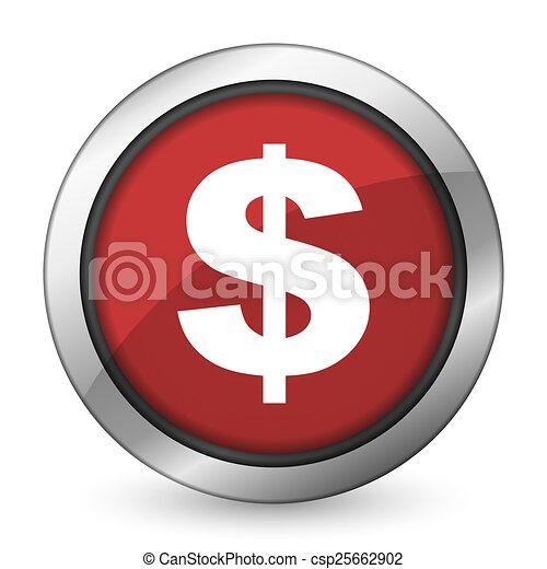 dollar red icon us dollar sign - csp25662902