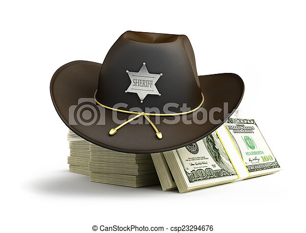 d7c7ee57 dollar sheriff hat on a white background.