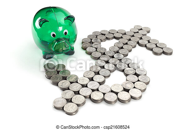 dollar sign from the coins - csp21608524