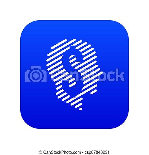 Dollar sign icon blue - csp87848231