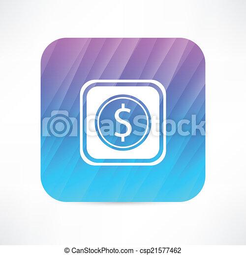dollar sign icon - csp21577462
