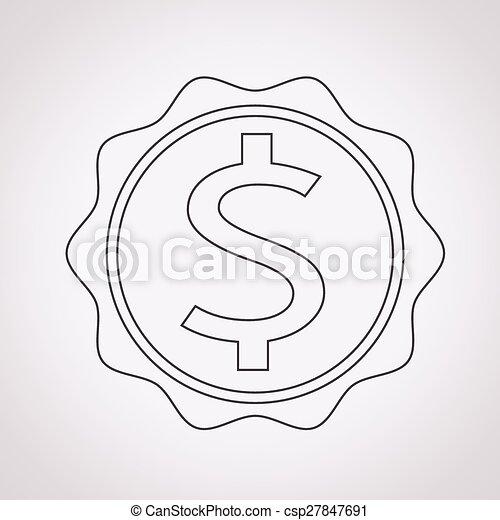 Dollar Sign Icon - csp27847691