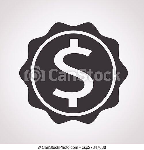 Dollar Sign Icon - csp27847688