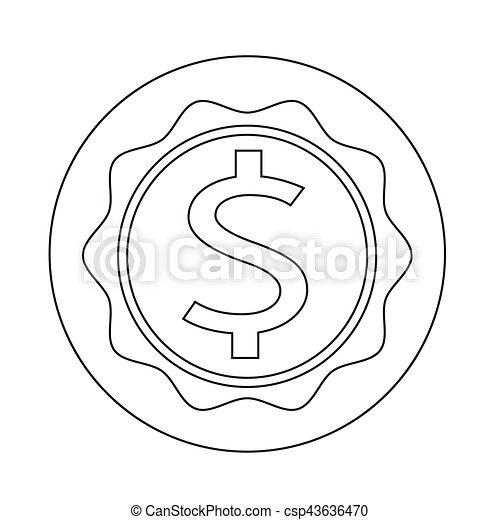 Dollar Sign Icon - csp43636470