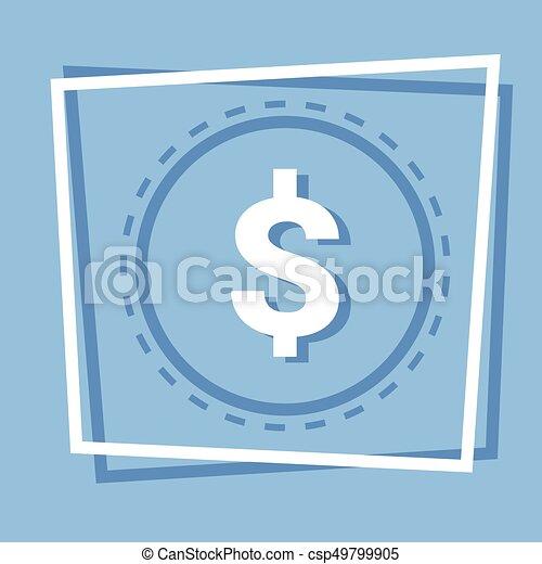 Dollar Sign Icon Web Button - csp49799905