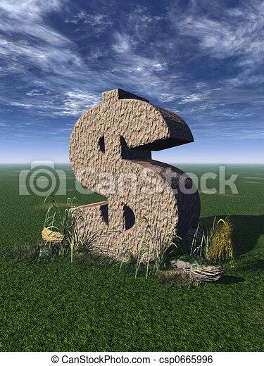 dollar sign - csp0665996