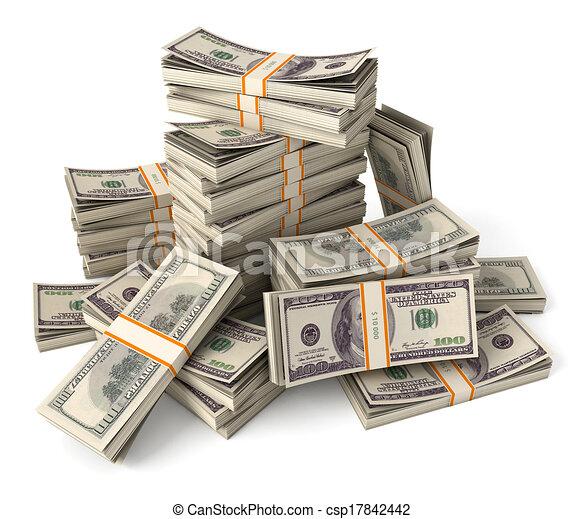 Ein Haufen Dollar - csp17842442