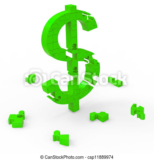 Dollar Symbol Means Currency Wealth And Banking - csp11889974