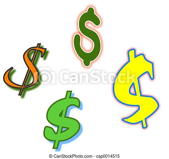 Dollar Symbols - csp0014515