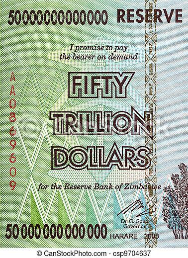 dollari, trillion, cinquanta - csp9704637