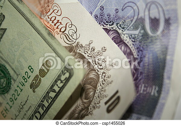Dollars and Pounds - csp1455026