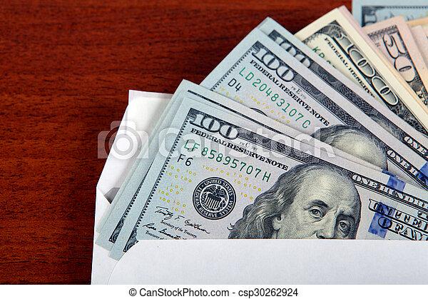 Dollars in Envelope - csp30262924