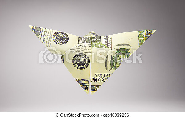 Origami BUTTERFLY Insect Real One Dollar Bill Stock Image - Image of  figure, financial: 124736315 | 294x450