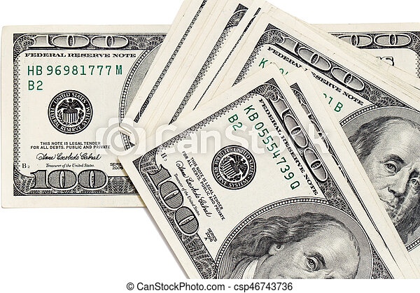 Dollars on a white background - csp46743736