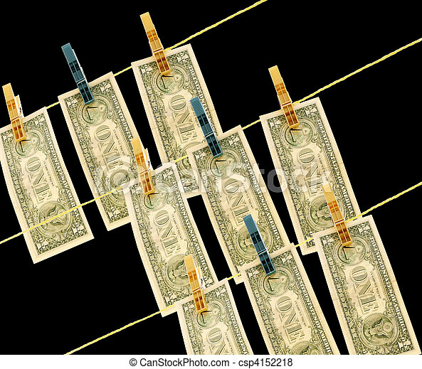 Dollars on the wire - csp4152218