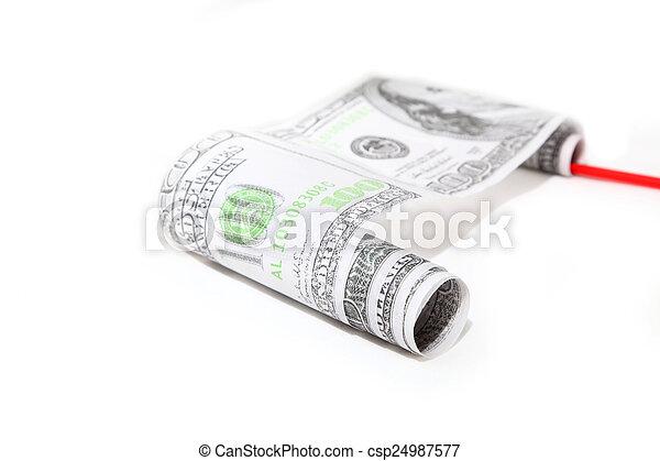 dollars roll - csp24987577