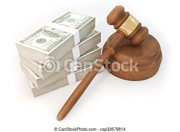 Dollars stack with Auction - csp32679814