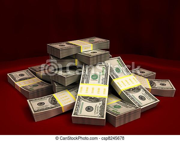 dollars, stapel - csp8245678