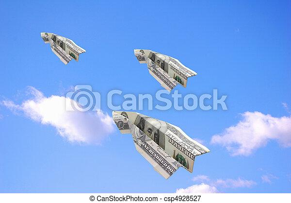 dollars, vliegen - csp4928527