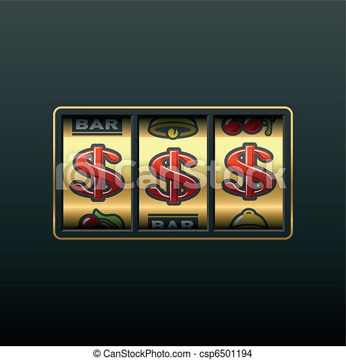 Dollars - winning in slot machine - csp6501194
