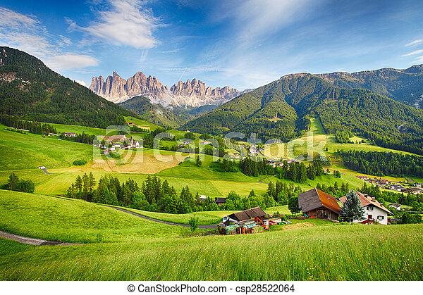 Dolomites alps, Mountain - Val di Funes - csp28522064