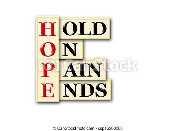 Dolor de esperanza - csp16200268