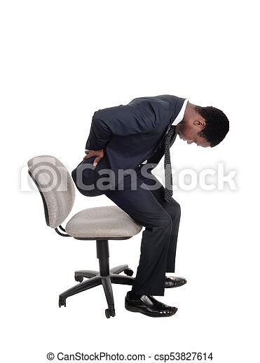 Dolor obteniendo espalda arriba silla hombre arriba for Sillas de oficina para problemas de espalda
