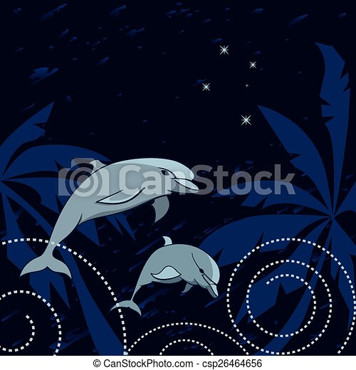 dolphins and Southern Cross - csp26464656
