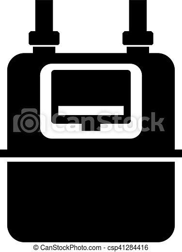 doméstico, gás, medidor - csp41284416