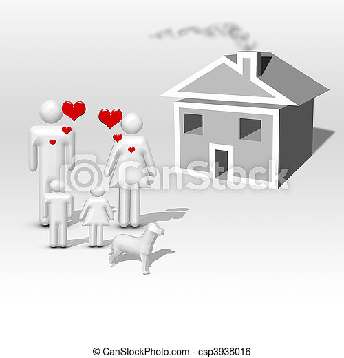 domů, sen - csp3938016