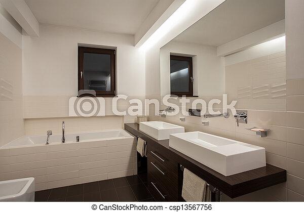 Dom łazienka Nowoczesny Trawertyn