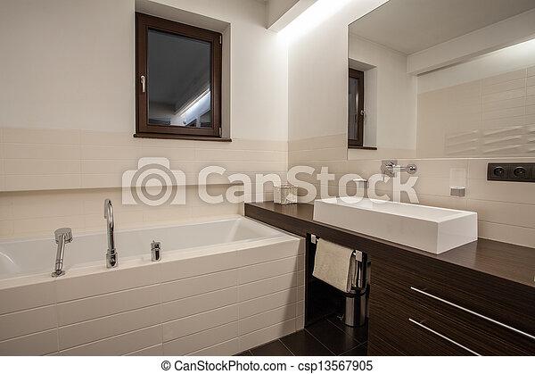 Dom łazienka Okno Trawertyn