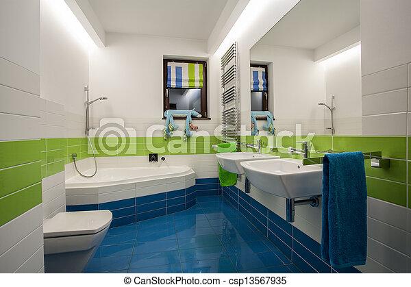 Dom łazienka Trawertyn Dzieci