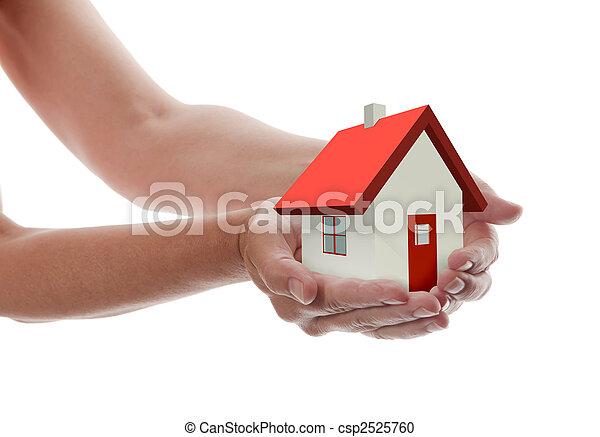 dom, -, dzierżawa wręcza - csp2525760