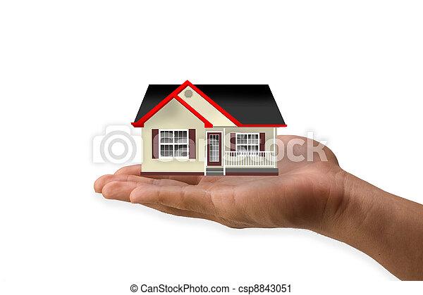 dom, ręka - csp8843051