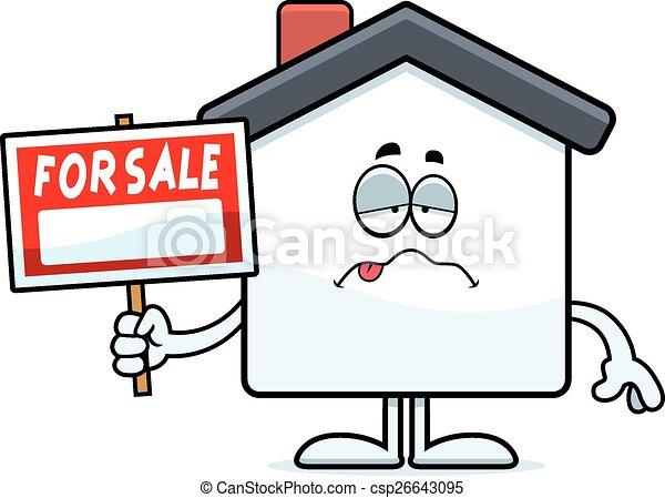 dom, rysunek, chory, sprzedaż - csp26643095