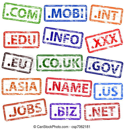 Domain Name Rubber Stamps - csp7062181