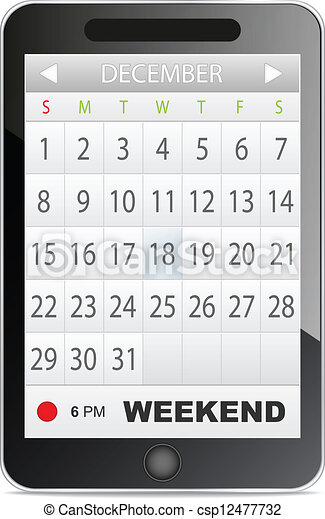 domanda, calendario - csp12477732