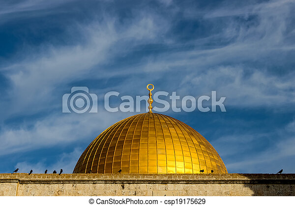 Dome of the Rock in Jerusalem - csp19175629