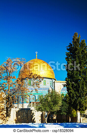 Dome of the Rock in Jerusalem - csp18328094