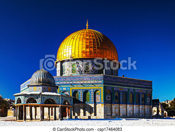 Dome of the Rock mosque in Jerusalem - csp17464083