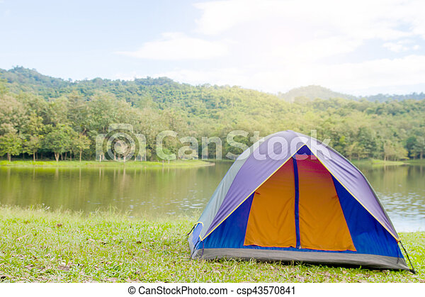 Dome Tent Camping At National Park Thailand