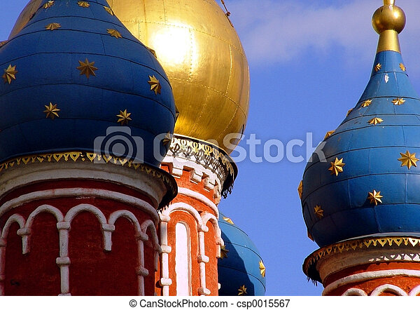 Domes in Moscow - csp0015567