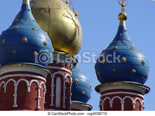 Domes in Old Moscow - csp0036715
