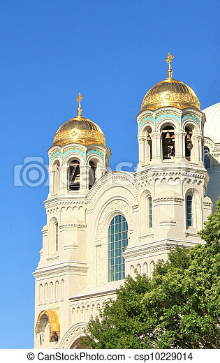 Domes of the Naval Cathedral of St. Nicholas - csp10229014
