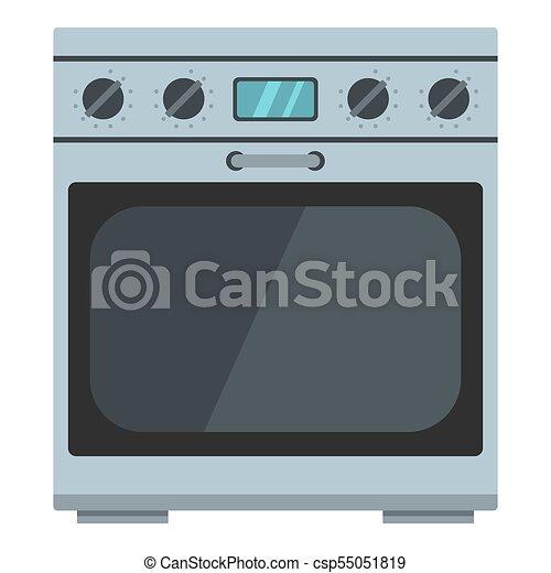 domestic gas oven icon cartoon style domestic gas oven icon