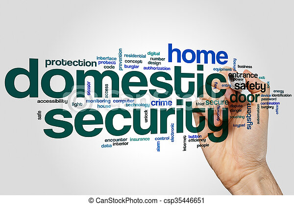 Domestic security word cloud - csp35446651